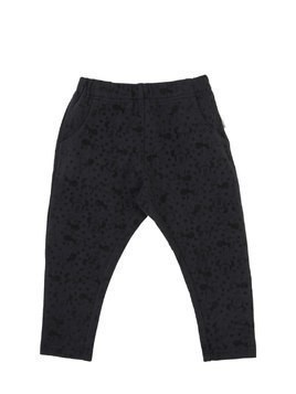 MINNIE FLOCKED COTTON JERSEY PANTS