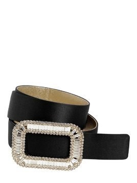 30MM PILGRIM CRYSTAL BUCKLE SILK BELT