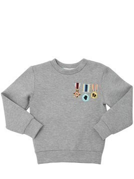 EMBROIDERED DOUBLE JERSEY SWEATSHIRT