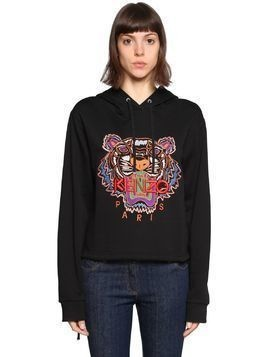 HOODED TIGER EMBROIDERED SWEATSHIRT