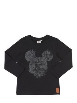 MICKEY PRINT COTTON JERSEY T-SHIRT