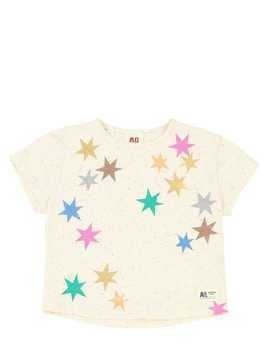 STAR PRINT COTTON JERSEY T-SHIRT