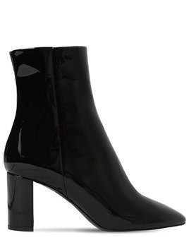 70MM LOU PATENT LEATHER ANKLE BOOTS