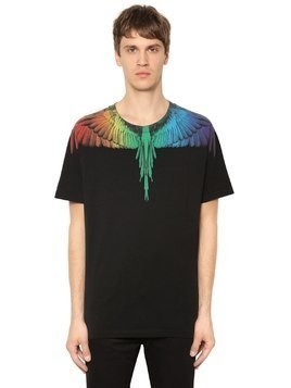 RAINBOW WING PRINTED JERSEY T-SHIRT