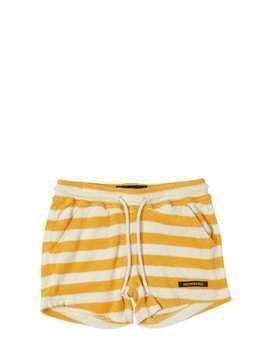 STRIPED COTTON TERRY SHORTS