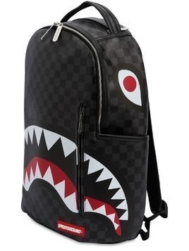 BLACK CHECKERED SHARK IN PARIS BACKPACK