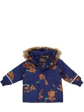 DUCK PRINTED NYLON SKI JACKET