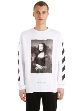 MONALISA PRINTED COTTON SWEATSHIRT