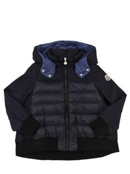 ELANION HOODED NYLON DOWN JACKET