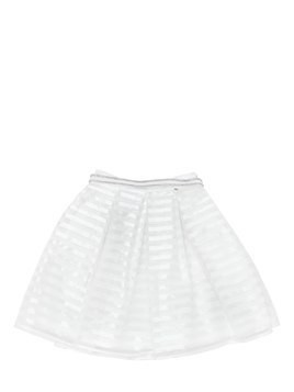 COTTON ORGANZA & SATIN SKIRT