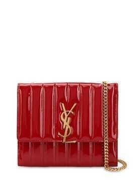 VICKY PATENT LEATHER LOGO BAG