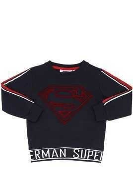 SUPERMAN PRINT COTTON SWEATSHIRT