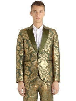 FLORAL JACQUARD EVENING JACKET