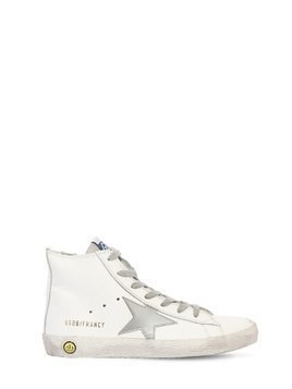 FRANCY LEATHER HIGH TOP SNEAKERS