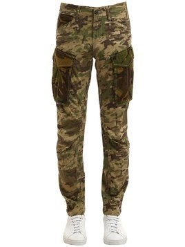 ROVIC MIX 3D TAPERED CAMO COTTON PANTS