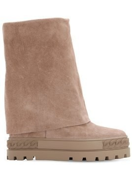 100MM SUEDE WEDGE PLATFORM BOOTS