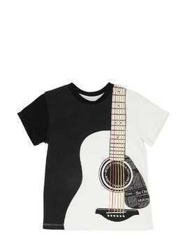 GUITAR PRINT COTTON JERSEY T-SHIRT