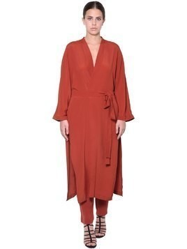 CREPE DE CHINE LONG DUST COAT
