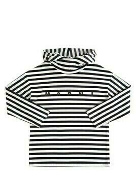 Stripes Cotton Jersey T-shirt Hoodie