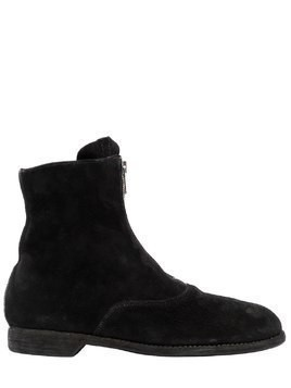 210 ZIPPED REVERSE LEATHER BOOTS