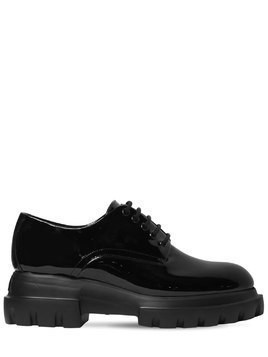 40MM PATENT LEATHER DERBY LACE-UP SHOES