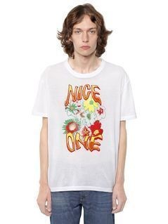 NICE ONE PRINT COTTON JERSEY T-SHIRT
