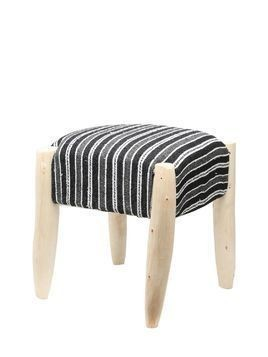 HANDMADE STRIPED COTTON POUF