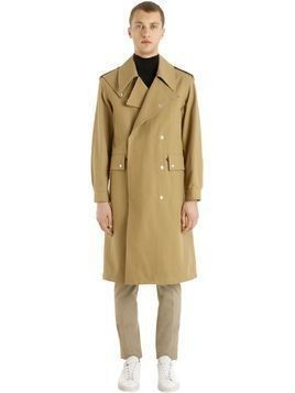 HEAVY COTTON TWILL MILITARY COAT