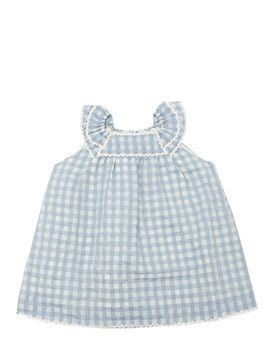 GINGHAM TAFFETA DRESS