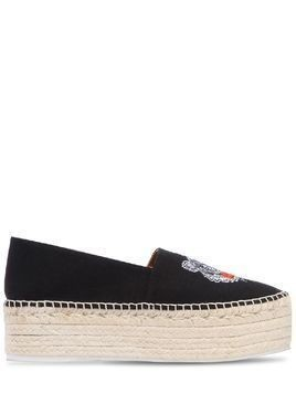 60MM TIGER COTTON CANVAS ESPADRILLES
