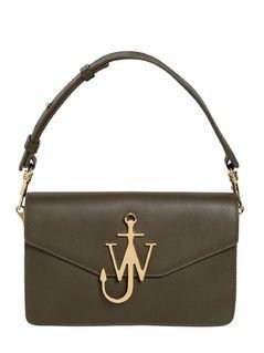 LOGO LEATHER SHOULDER BAG