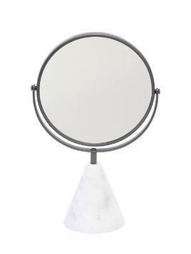 TABLE MIRROR WITH CARRARA MARBLE BASE