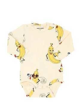 BANANA PRINT ORGANIC COTTON BODYSUIT