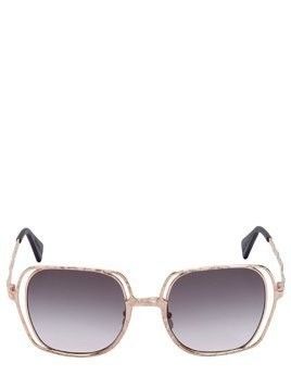 DOUBLE SQUARE FRAME METAL SUNGLASSES