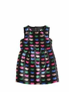 LIPS PRINT DUCHESSE DRESS