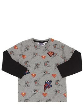 SUPERMAN PRINT COTTON JERSEY SWEATSHIRT