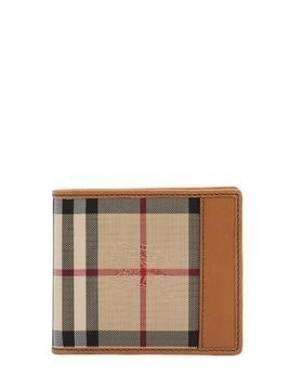 CHECK CANVAS&LEATHER CLASSIC WALLET