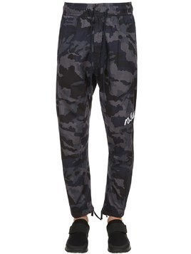NIKE SPORTSWEAR CAMO COTTON SWEATPANTS