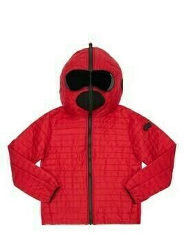 Hooded Nylon Puffer Jacket W/ Lenses