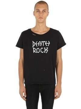 DEATH ROCK RIPPED JERSEY T-SHIRT