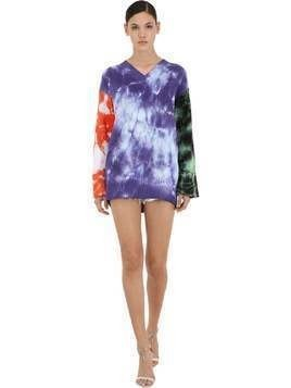 TIE DYE COTTON KNIT SWEATER