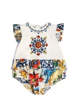 MAIOLICA RUFFLED COTTON JERSEY BODYSUIT