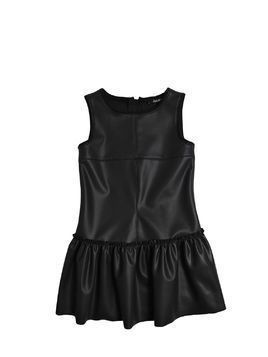 STRETCH FAUX LEATHER DRESS