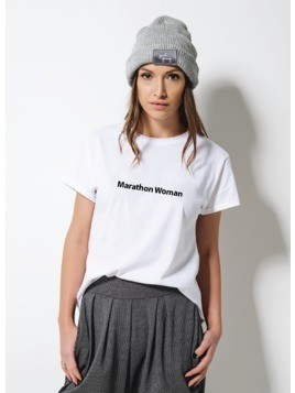 "T-shirt ""marathon woman"""