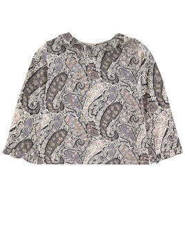 Print blouse with a Peter Pan collar