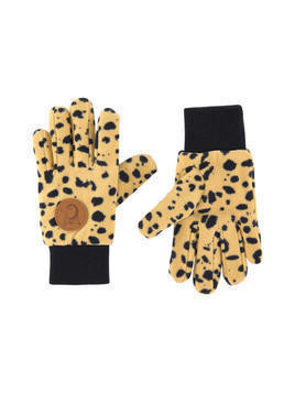 Leopard fleece gloves
