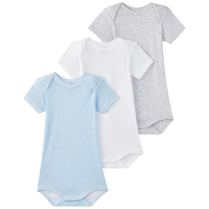 Pack of 3 onesies with an envelope neck