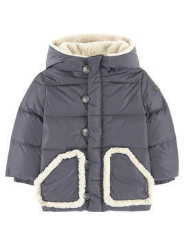 Down and feather padding coat