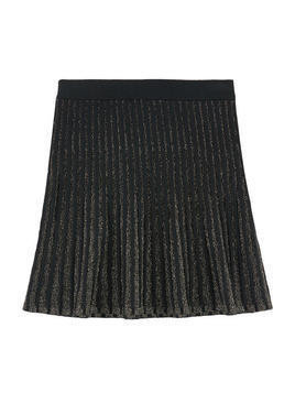 Striped skirt with lurex