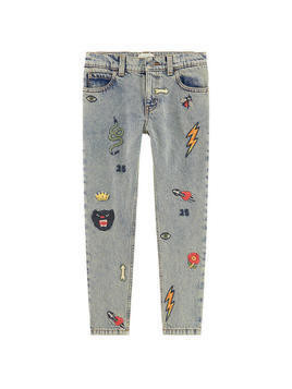 Boy regular fit jeans with embroideries
